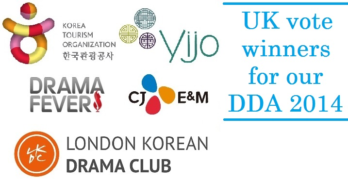 And the winners among UK voters for the Daehan Drama Awards 2014 are…