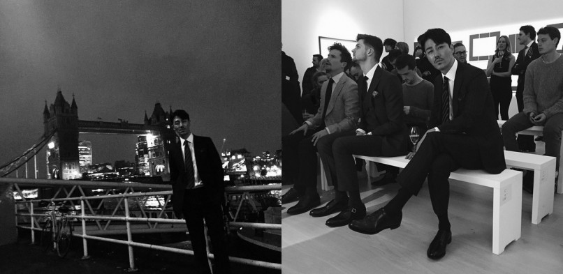Cha Seung-won in London for men's fashion week