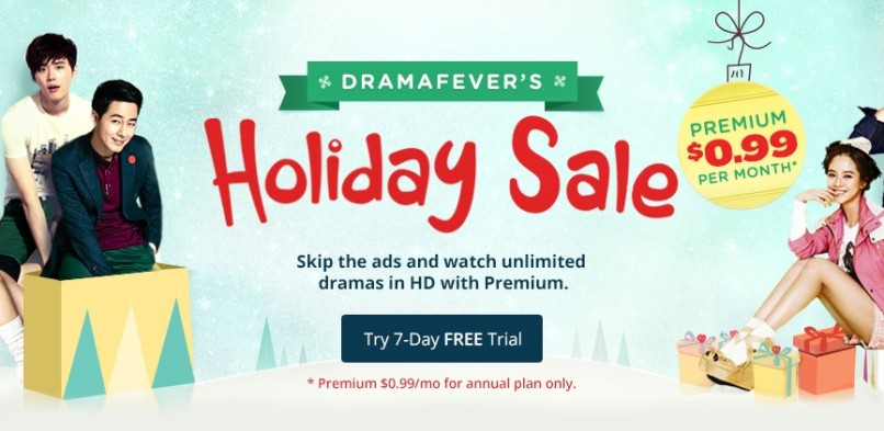Holiday Sale: DramaFever Subscription down to $0.99 per month