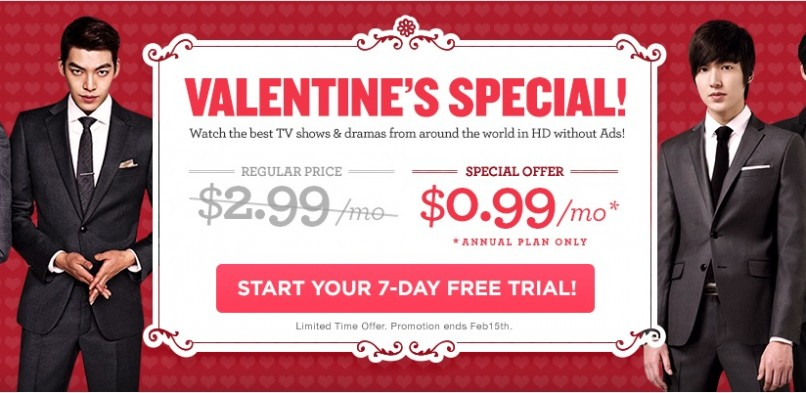 Valentine's Special: DramaFever subscription discount extended