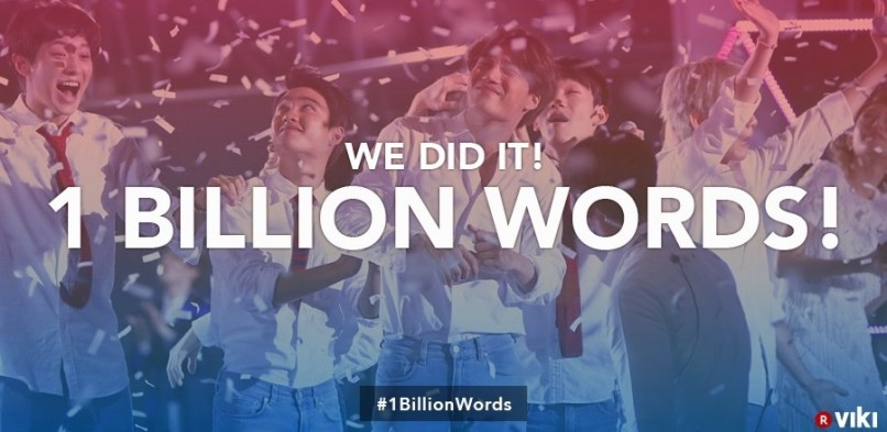 Viki Celebrates #1BillionWords Milestone